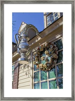 Chownings Wreath 02 Framed Print by Teresa Mucha