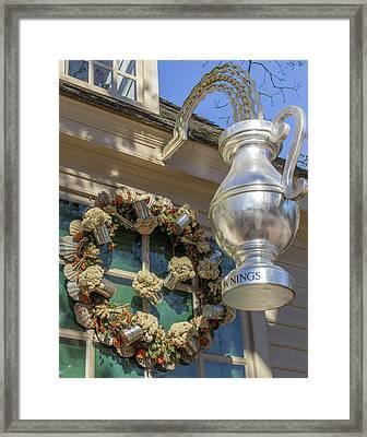 Chownings Wreath 03 Framed Print by Teresa Mucha
