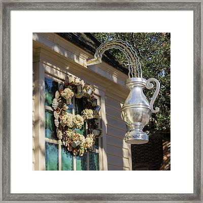Chownings Wreath 04 Framed Print by Teresa Mucha