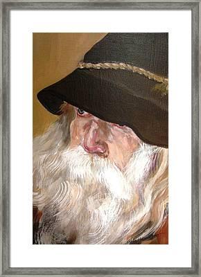 Chris' Beard Framed Print