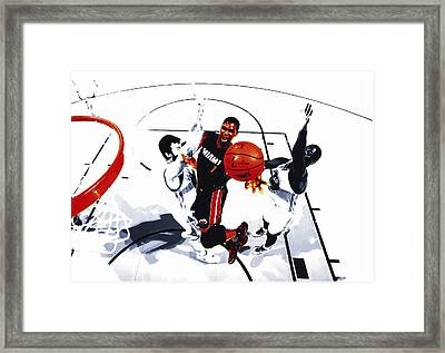 Chris Bosh Framed Print by Brian Reaves