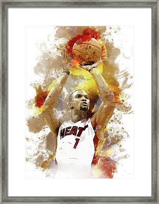 Chris Bosh Miami Heat Framed Print