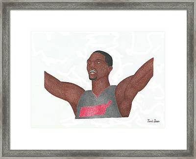 Chris Bosh Framed Print by Toni Jaso