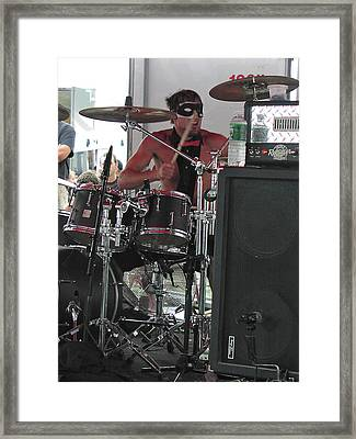 Chris Brief On Drums Framed Print