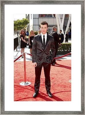 Chris Colfer At Arrivals For Primetime Framed Print by Everett
