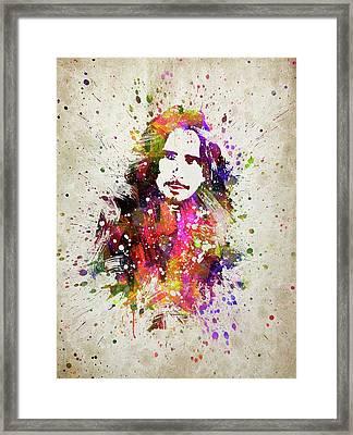 Chris Cornell In Color Framed Print
