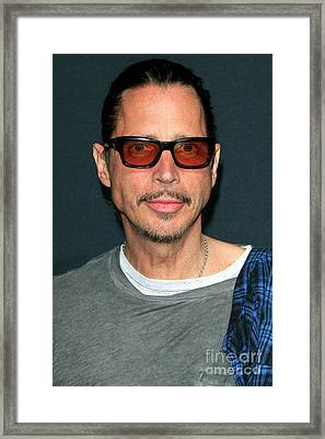 Chris Cornell Framed Print by Nina Prommer