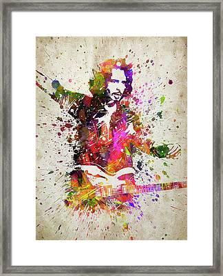 Chris Cornell Portrait Framed Print