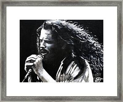 Chris Cornell Framed Print by Tom Carlton