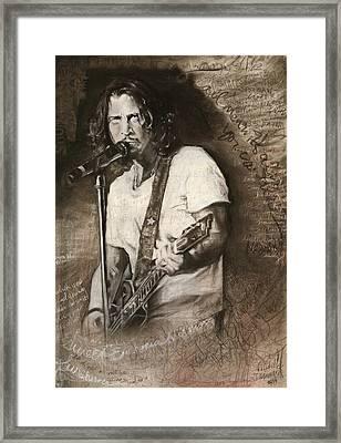 Chris Cornell Tribute With Lyrics Framed Print