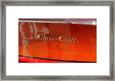 Chris Craft Logo Framed Print by Michelle Calkins