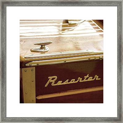 Century Resorter Vintage Boat Framed Print by Charles Harden