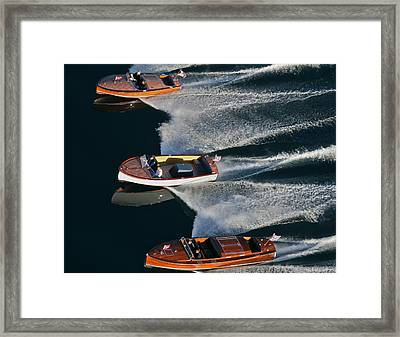 Chris Craft Runabouts Framed Print