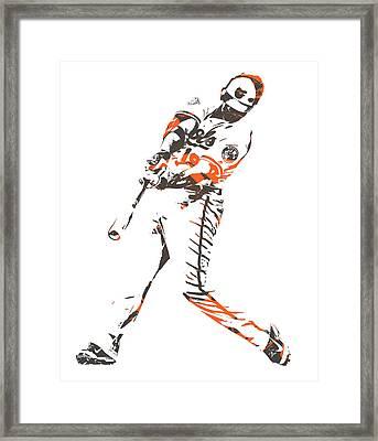 Chris Davis Baltimore Orioles Pixel Art 11 Framed Print