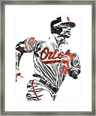 Chris Davis Baltimore Orioles Pixel Art Framed Print by Joe Hamilton
