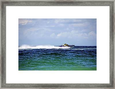 Chris Gone Wilder 112 Power Boat Framed Print