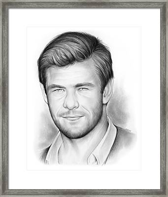 Chris Hemsworth Framed Print by Greg Joens