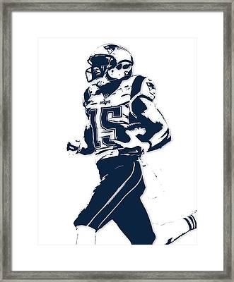 Chris Hogan New England Patriots Pixel Art Framed Print by Joe Hamilton