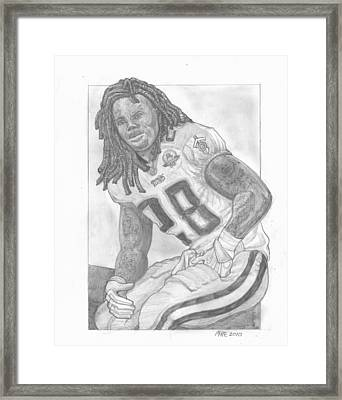 Chris Johnson Framed Print by Paul McRae