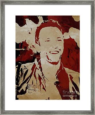 Chris Martin Coldplay Framed Print