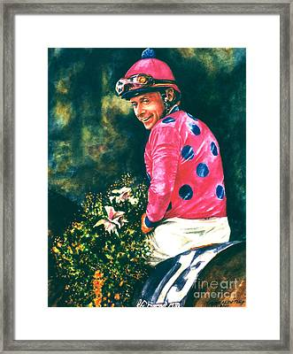 Chris Mccarron Up Framed Print by Thomas Allen Pauly