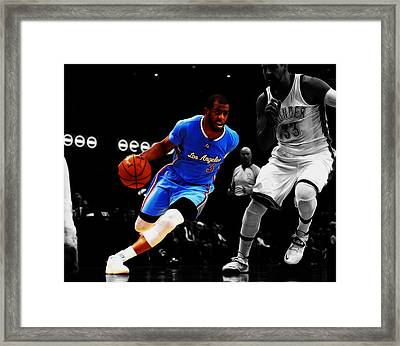 Chris Paul Framed Print by Brian Reaves