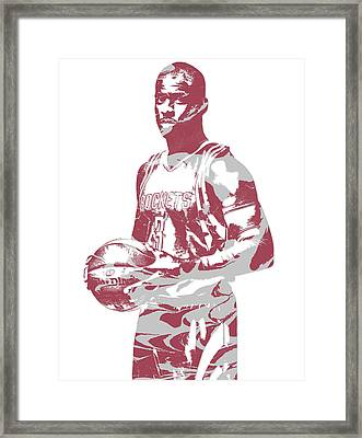 Chris Paul Houston Rockets Pixel Art 1 Framed Print