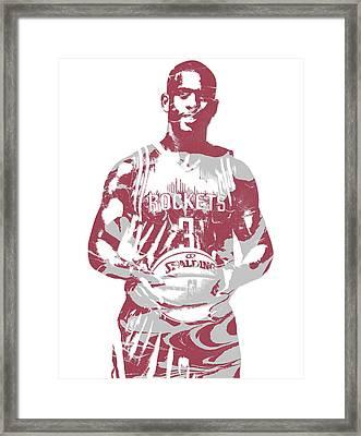 Chris Paul Houston Rockets Pixel Art 2 Framed Print