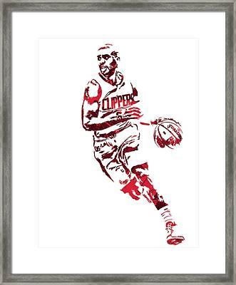 Chris Paul Los Angeles Clippers Pixel Art 9 Framed Print