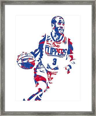 Chris Paul Los Angeles Lakers Pixel Art 6 Framed Print