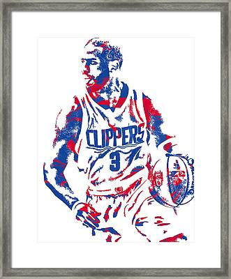 Chris Paul Losangeles Clippers Pixel Art 5 Framed Print