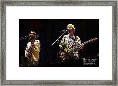 Chris Robinson And Phil Lesh With Phil Lesh And Friends Framed Print