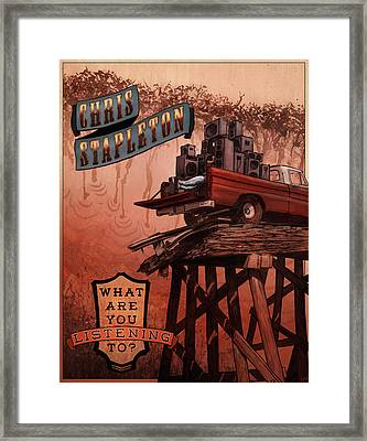 Chris Stapleton Poster Framed Print by Ethan Harris