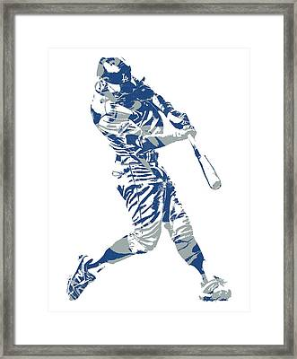 Chris Taylor Los Angeles Dodgers Home Run Framed Print