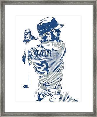 Chris Taylor Los Angeles Dodgers Pixel Art 5 Framed Print
