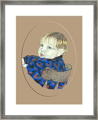 Chris Framed Print by Tobi Czumak