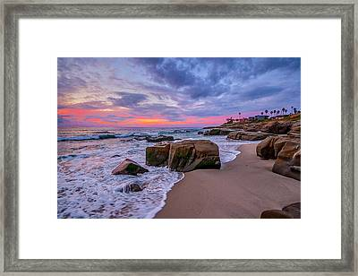 Chris's Rock Framed Print by Peter Tellone
