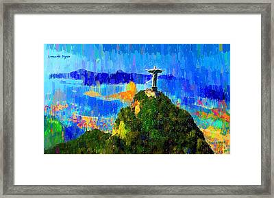 Christ Above All In Rio 1 - Pa Framed Print