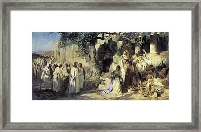 Christ And Sinner Framed Print