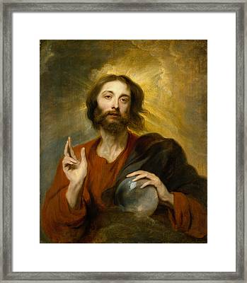 Christ As Salvator Mundi Framed Print