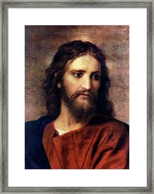 Christ At 33 Framed Print by Heinrich Hofmann