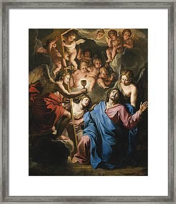 Christ At Prayer On The Mount Of Olives Framed Print