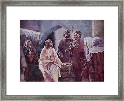 Christ At The Well Framed Print by Layne Brady