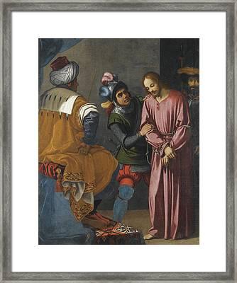 Christ Before Pilate Framed Print by Agostino Ciampelli