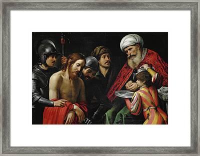 Christ Before Pilate Framed Print by Leonello Spada