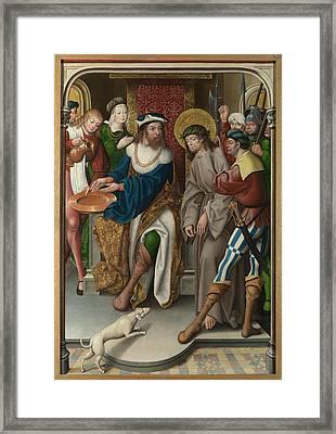Christ Before Pilate Framed Print by Master of Cappenberg Jan Baegert