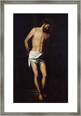 Christ Bound To The Column Framed Print