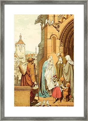Christ Brought To Jerusalem Framed Print by Victor Paul Mohn
