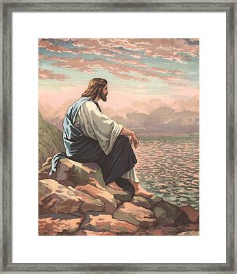 Christ By The Sea Framed Print