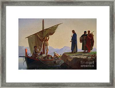 Christ Calling The Apostles James And John Framed Print by Edward Armitage